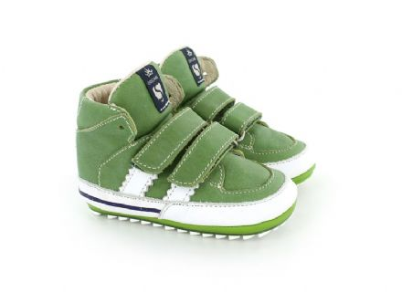 ShoesMe HIGH TOPS Leather Velcro (Green) 18 only!